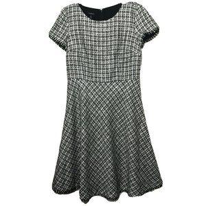 Talbots Tweed Fringe Hem A Line Dress